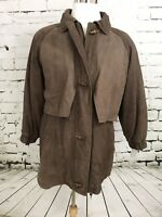 Wilsons ADVENTURE BOUND Men Brown Leather BARNSTORMER Lined Jacket  Coat M  HG
