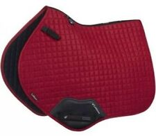 LeMieux ProSport Suede Close Contact Square Saddle Pad - Large Chilli Red