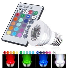3W E27 85-265V Color LED RGB Magic Spot Light Bulb + Wireless Remote Control