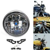 """7""""  Moto Halogen Feu Avant  Ampoules Lampe Phare Universelle Tranche"""