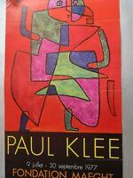 Affiche d'exposition  Paul Klee 1977 / Fondation Maeght / Saint-Paul