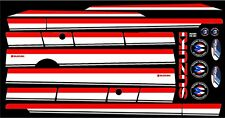 SUZUKI SAMURAI DECALS LINES STICKERS CALCOMANIAS GRAFICAS RED, BLACK AND WHITE