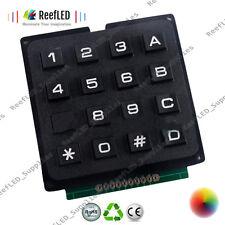 Matriz 4x4 Teclado Teclado módulo uso clave Llaves Pic Avr sello de plástico interruptor de Reino Unido