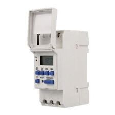 Programmateur horaire électrique hebdomadaire à affichage numérique 220V 16A LCD