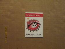PDL Des Moines Menace Vintage Circa 2010 Soccer Logo Pocket Schedule