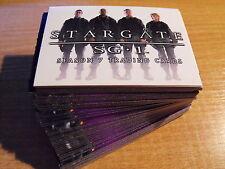 STARGATE SEASON 7 COMPLETE BASIC SET OF CARDS