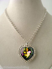Vitrial AB Swarovski Elements Crystal Heart of the Ocean Titanic Necklace &Box
