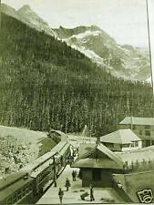MT. SIR DONALD STATION SELKIRKS CANADIAN RAILWAY1889 Matted