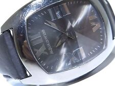 Mens XL Aqua Swiss Stainless Steel Black PVD Coated Watch