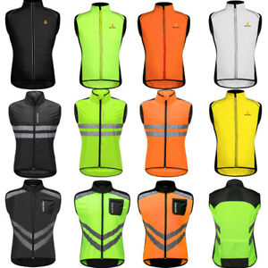 Men's Team Cycling Reflective Vest Wind Coat Sleeveless Sports Bike Clothing