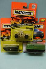 Matchbox - lot de 3 vehicules militaires Tank Abrams M1 - Missile Launcher 1/64