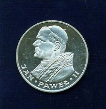 """POLAND  1983  1,000 ZLOTYCH  """"POPE JOHN PAUL II""""  PROOF SILVER COIN"""