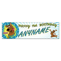 Personalized & Custom Printed Scooby Doo Themed Birthday Banner Party Decor