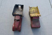 2 Vintage Marx Pressed Steel Toy Trucks