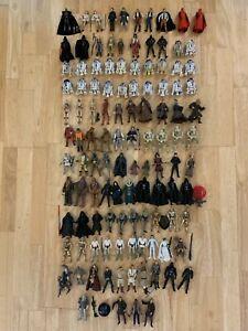Star Wars Lot of 115 Figures Darth Malgus R2-D2 Luke Skywalker Vader Maul Leia