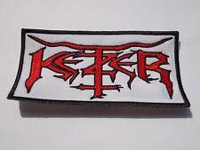 KETZER BLACK/THRASH METAL EMBROIDERED PATCH