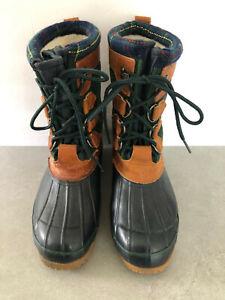 Eddie Bauer 18517-1683 Handcrafted Korea Green Suede Duck Mud Rubber Boots, 8M