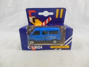 "Corgi Juniors J55 Renault Traffic Bus in Blue ""Grand Hotel Courtesy Bus"" 1:64"