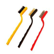 3PCS Small Brush Set Cleaning Brushes For Car Kitchen Basin Gas Stove Scrub New
