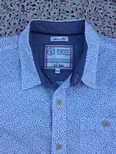 FAT FACE - Slim - White - Blue-Black-Brown Floral - Button Cuff - Shirt - XXL