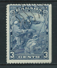 Canada #208(7) 1934 3 cent CARTIER'S ARRIVAL IN QUEBEC Used CV$2.00