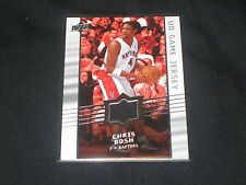 CHRIS BOSH RAPTORS STAR GENUINE CERTIFIED AUTHENTIC WORN JERSEY BASKETBALL CARD