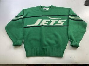 Vintage Cliff Engle New York Jets Wool Blend Pullover Sweater Mens S Made USA