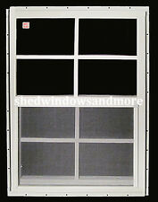 """Shed Window 12"""" x 18"""" White (2) J-Channel Set of 2 Storage Shed Barn Deer Stand"""