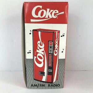Vintage 1989 Coke Vending Machine AM/FM Radio NEW IN BOX Never Used