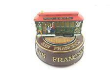 San Francisco Cable Car Cart Rotating Music Box Plays Tune City by the Bay 1999