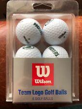 Wilson Nfl Green Bay Packers 6-Pack Golf Balls Nip
