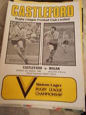 6.3.83 Castleford v Wigan programme