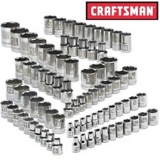 NEW Craftsman 82 pc piece Socket Set 6 pt Std 1/4 3/8 1/2 in Dr SAE Inch Metric