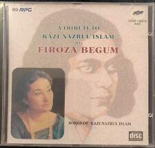 Firoza Begum - Tribute To Kazi Nazrul Islam. CD. NEW. STILL SEALED. RPG.