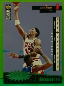Scottie Pippen insert card Crash The Game 1996-97 Collector's Choice #C4