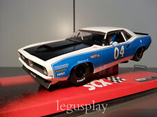 Slot car SCX Scalextric A10048X300 Plymouyh AAR Cuda White & Blue