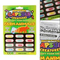 12Pcs Cartoon Magic Grow Growing Capsules Expanding Sponge Foam Capsule Toy