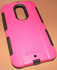 Trident Aegis Hybrid case Moto X 2nd Gen, Pink and Black w screen protector, NEW