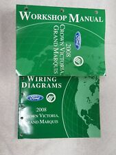 2008 ford crown vic & mercury grand marquis shop repair service manual set  oem