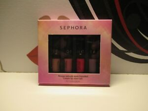 SEPHORA CREAM LIP STAIN SET 4X0.04 OZ. BOXED FOR SHADES