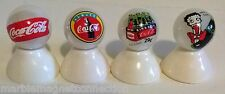 "4 - COCA COLA ""COKE"" LOGO MARBLES ON WHITE PEARL MARBLES SET #4"
