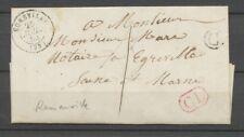 1854 Lettre en local EGREVILLE (73) + BR Romainville SEINE-ET-MARNE Sup. P2647