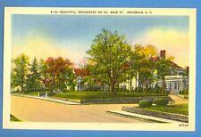 SOUTH CAROLINA - ANDERSON, BEAUTIFUL RESIDENCES ON SO. MAIN ST. PC 237