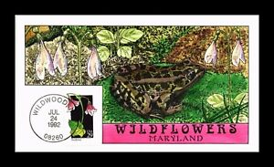 DR JIM STAMPS US COLLINS HAND COLORED FDC TWINFLOWER WILDFLOWERS SCOTT 2665