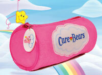 Cute and Kitsch Pink Fluffy Officially Licensed CARE BEAR Pencil Case BNWT