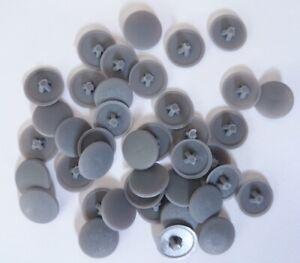 DARK GREY Screw Caps Covers Pozi Head 11mm Push Fit Furniture SPAX PZ2 Plastic