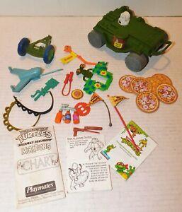 Vintage Playmates TMNT Teenage Mutant Ninja Turtles Parts Piece Accessory Lot