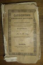 SAY. (Jean-Baptiste). - Catéchisme d'économie politique/ 1826. Troisième édition