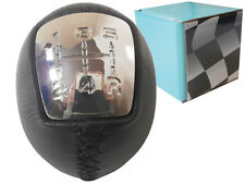 GEAR STICK SHIFT KNOB LEATHER + CHROME CAP FOR IVECO DAILY IV V VI 5 SPEED *NEW*