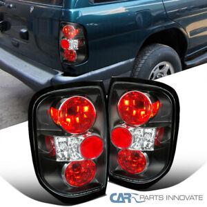 For 96-04 Nissan Pathfinder 97-04 Infiniti QX4 Black Tail Lights Brake Lamps
